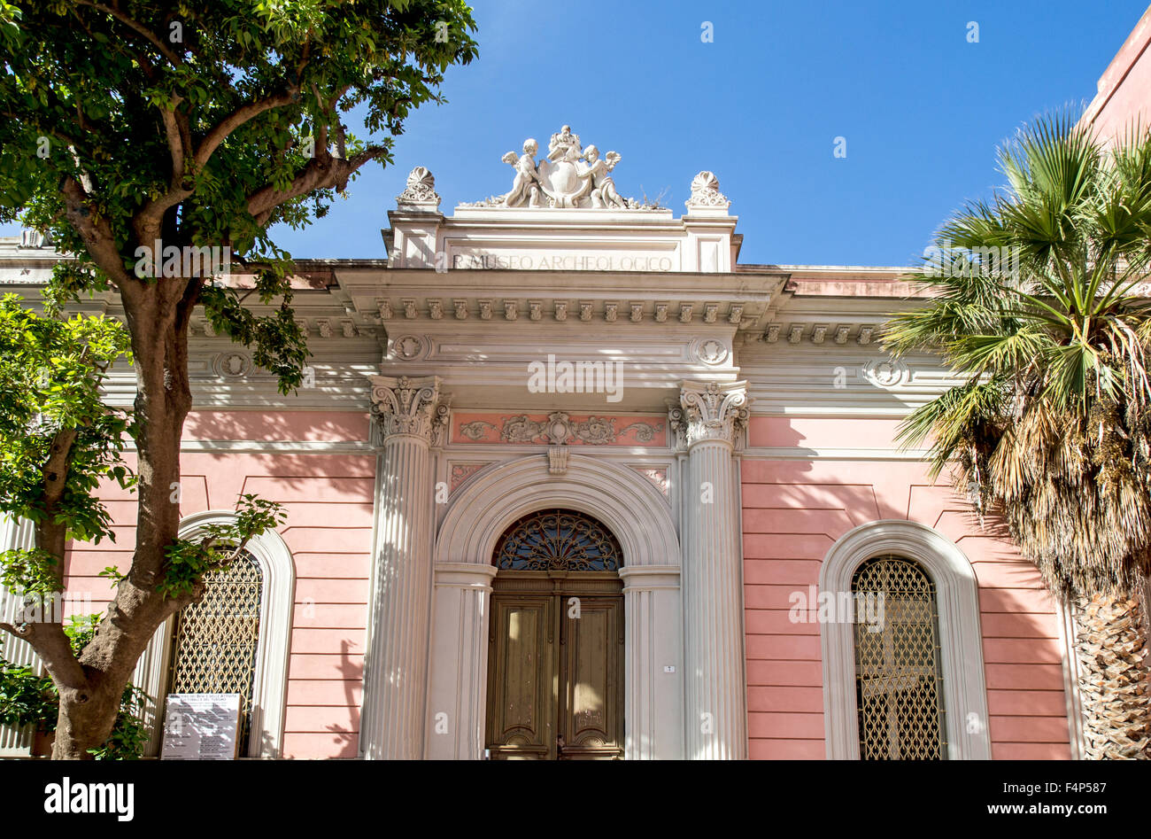 The Old Museum Of Archeology Cagliari Sardinia - Stock Image