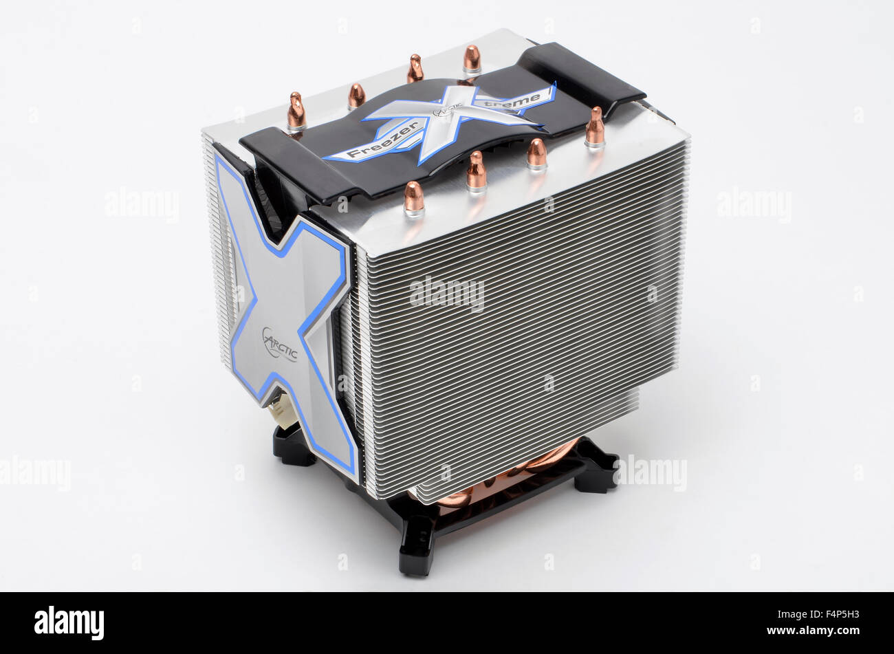 Arctic Cooling Freezer Xtreme CPU cooler and mounting cradle. - Stock Image