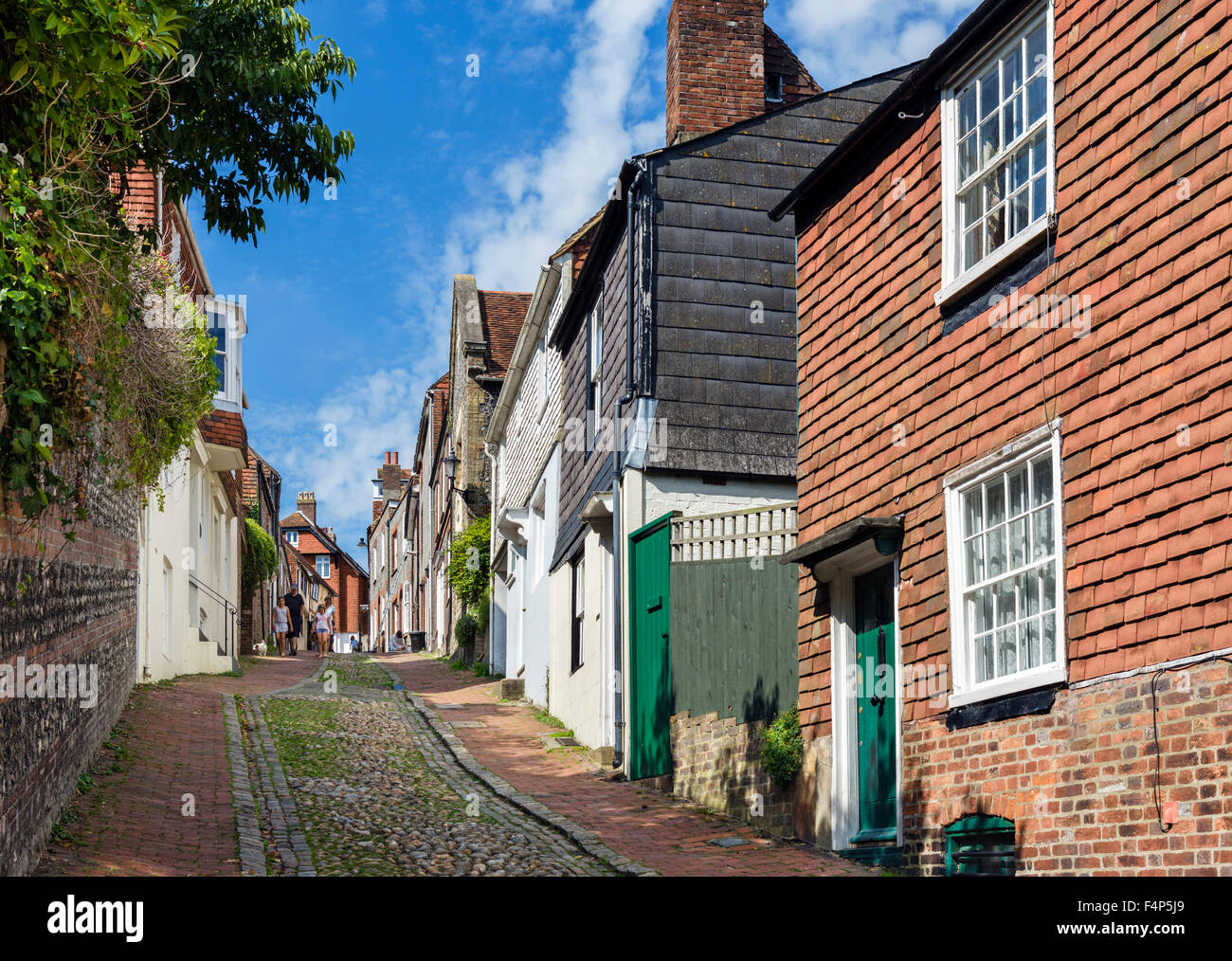 Keere Street in the old town, Lewes, East Sussex England, UK Stock Photo