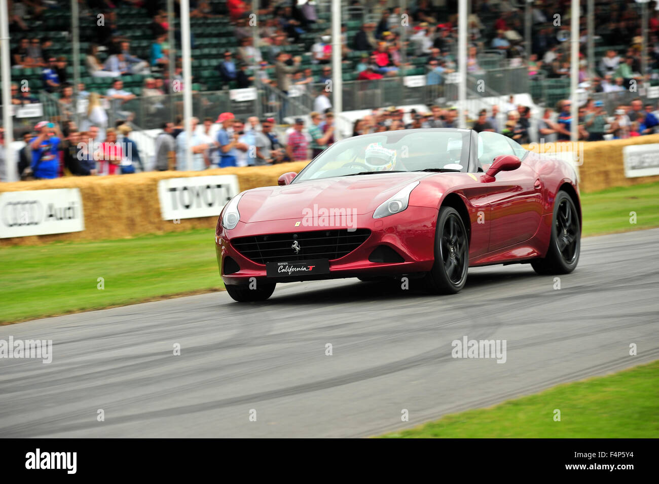 A Red Ferrari California T At The Goodwood Festival Of Speed In The Stock Photo Alamy