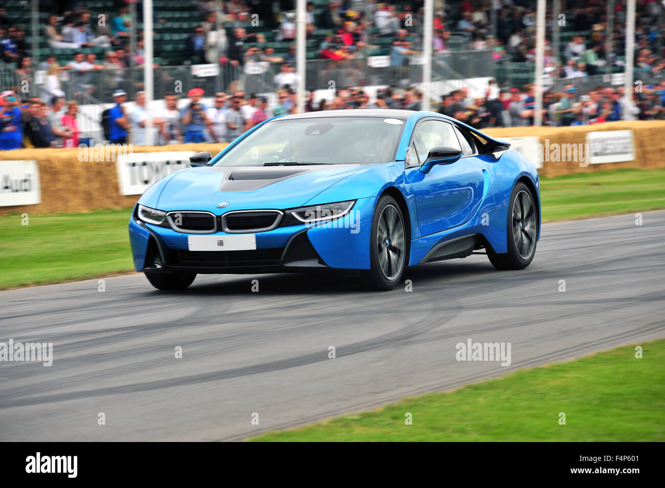 A Light Blue BMW I8 At The Goodwood Festival Of Speed In UK