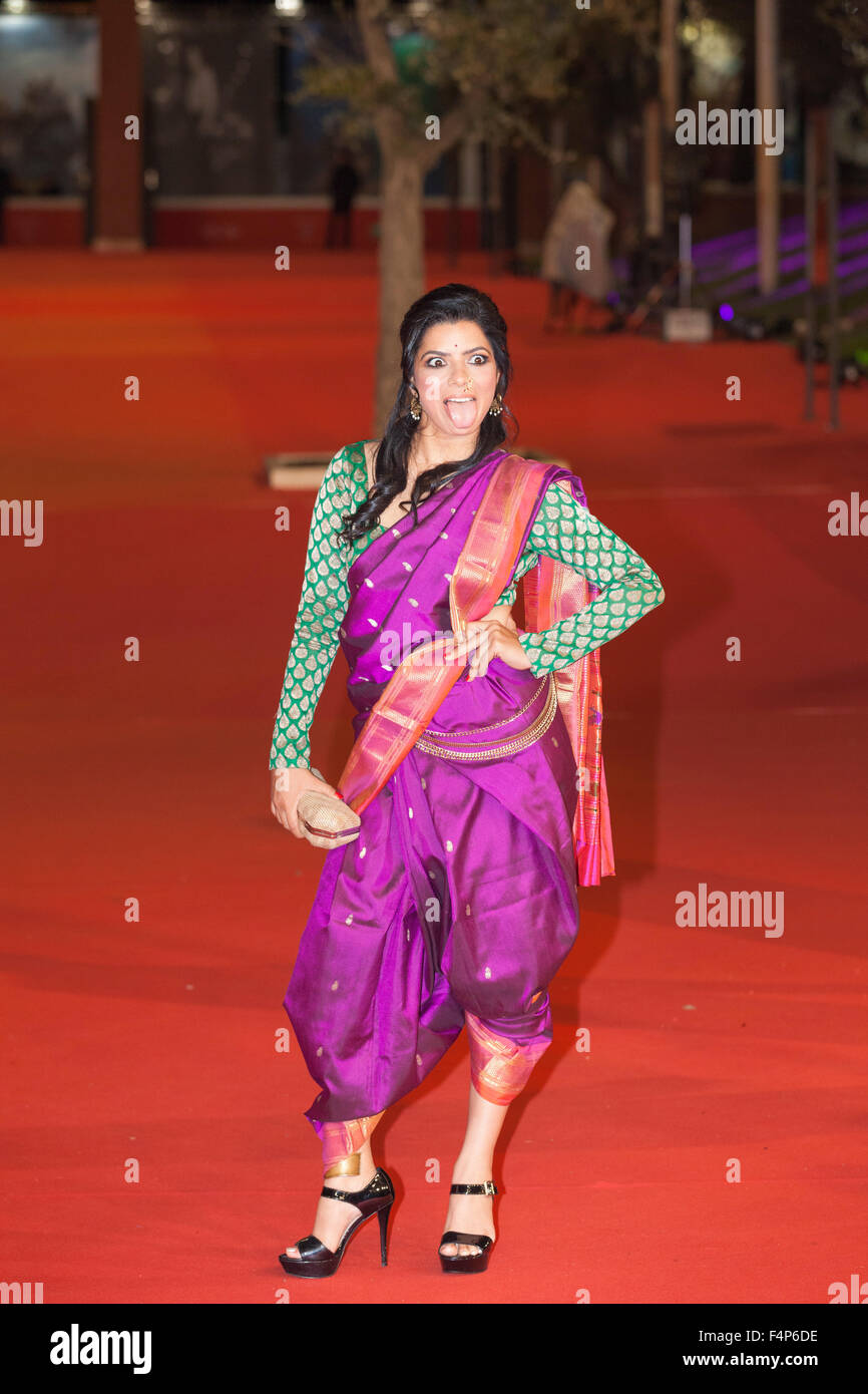 Rajshri Deshpande  Red carpet for 'Angry Indian Goddesses' at the 10th Rome Film Fest. Rome, Italy. 10/20/15 - Stock Image