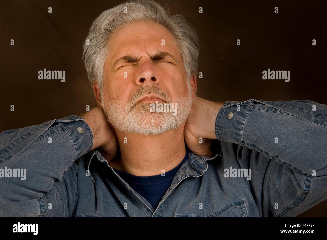 Headache Neck Ache Depression Or Stress - Stock Image