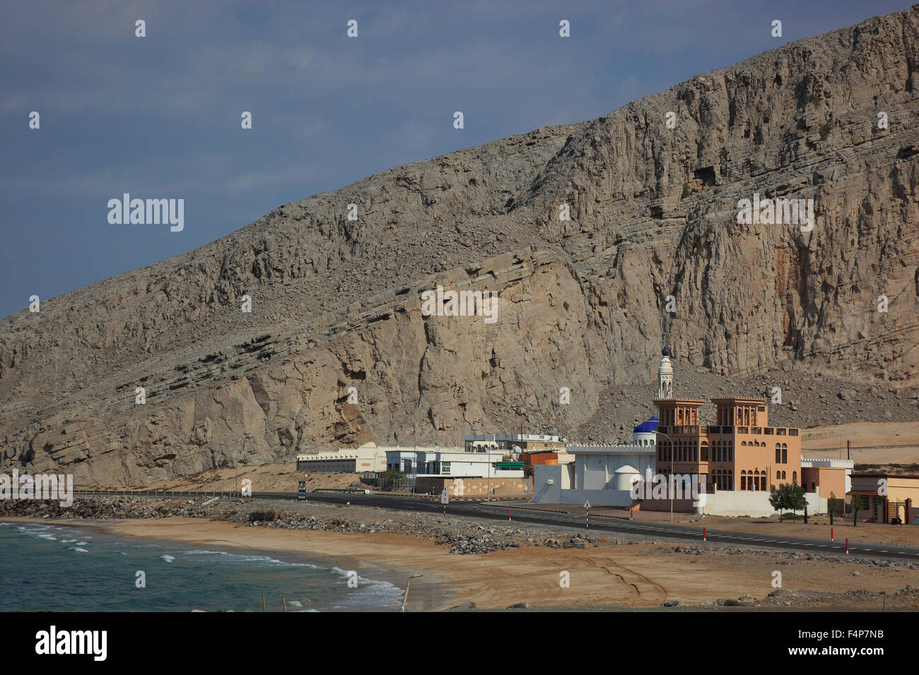 Harbour of Bukha, Bucha, in the granny's niches enclave of Musandam, Oman Stock Photo