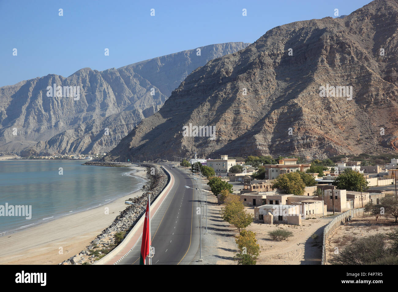 Bukha, Bucha, in the granny's niches enclave of Musandam, Oman Stock Photo