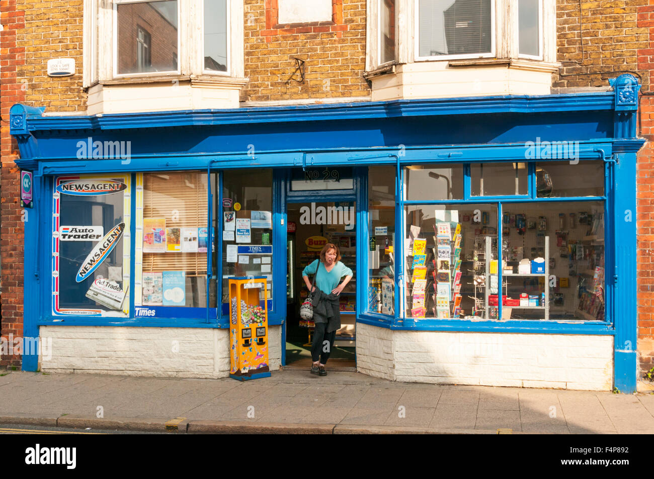 A local newsagents shop. Stock Photo