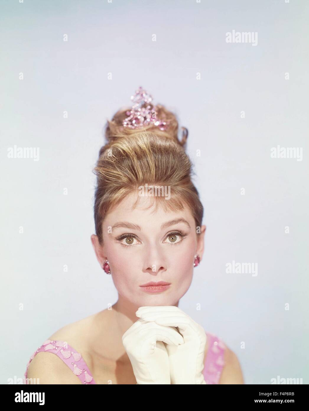 Audrey Hepburn / Breakfast at Tiffany's 1961 directed by Blake Edwards - Stock Image