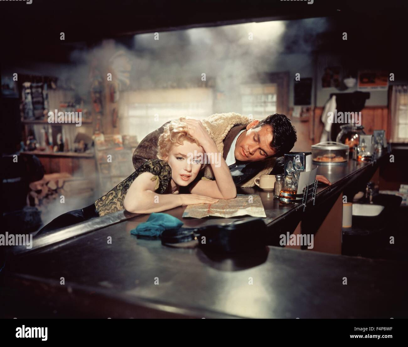 Marilyn Monroe, Don Murray / Bus Stop 1956 directed by Joshua Logan - Stock Image
