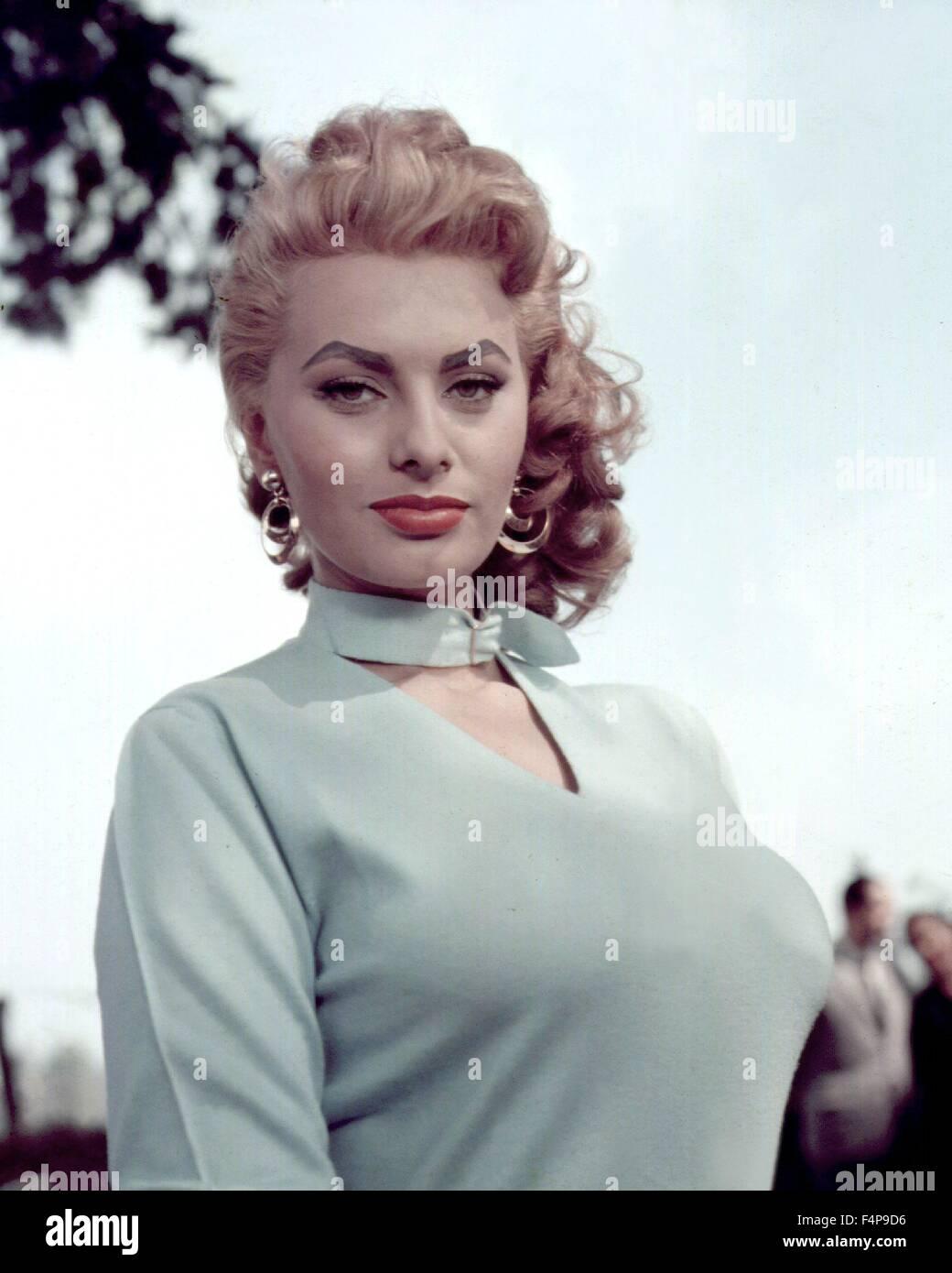 Sophia Loren / Too Bad She's Bad 1954 directed by Alessandro Blasetti - Stock Image