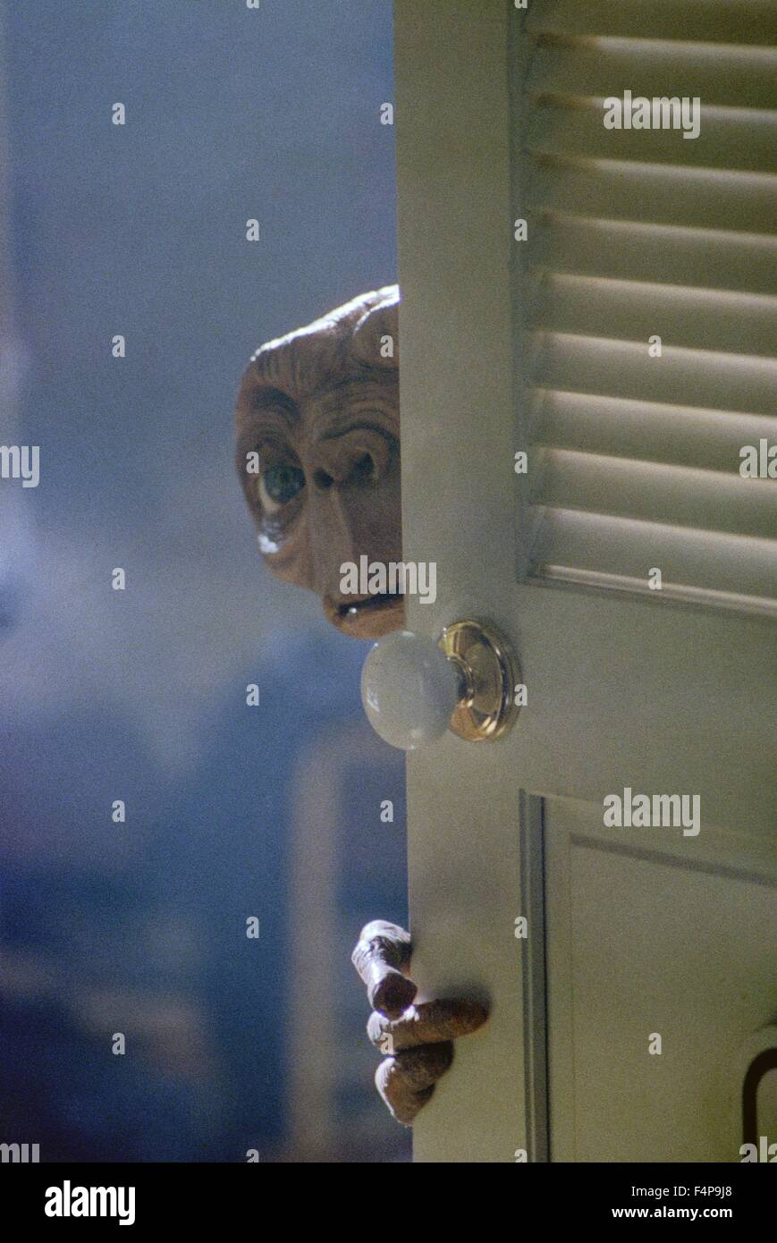E.T: The Extra-Terrestrial 1982 directed by Steven Spielberg - Stock Image