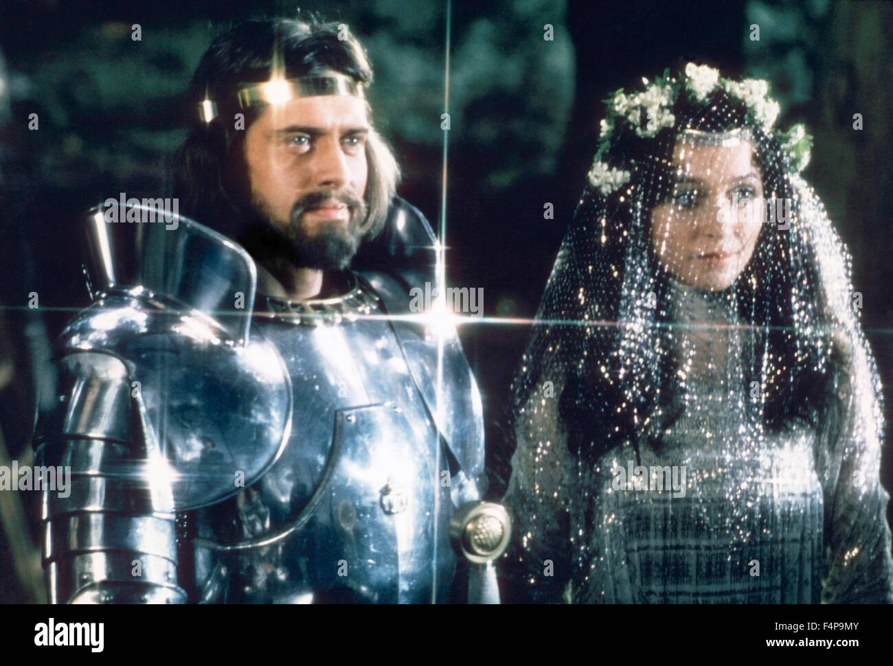 Nigel Terry, Cherie Lunghi / Excalibur 1981 directed by John Boorman - Stock Image
