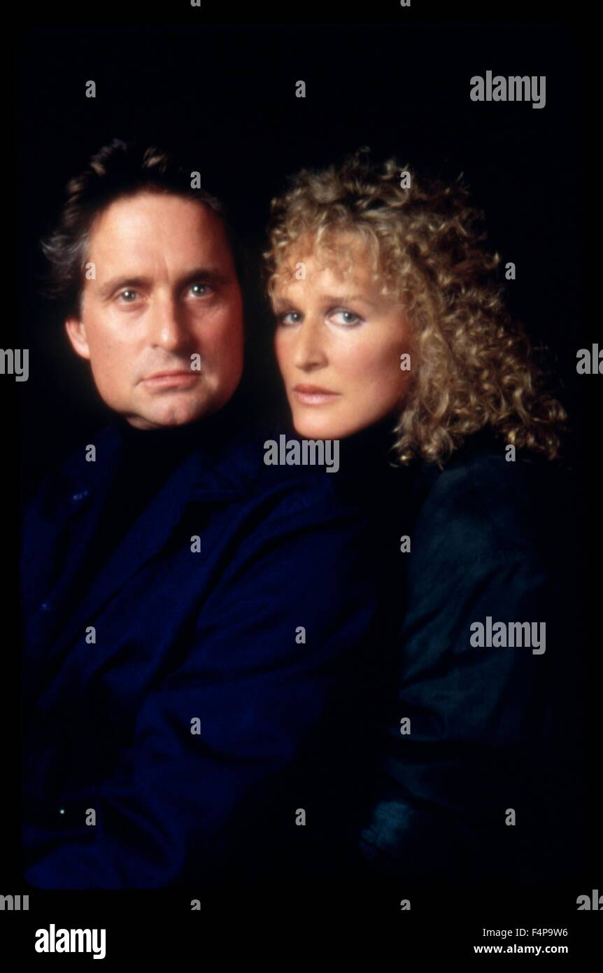 Michael Douglas, Glenn Close / Fatal Attraction 1987 directed by Adrian Lyne - Stock Image