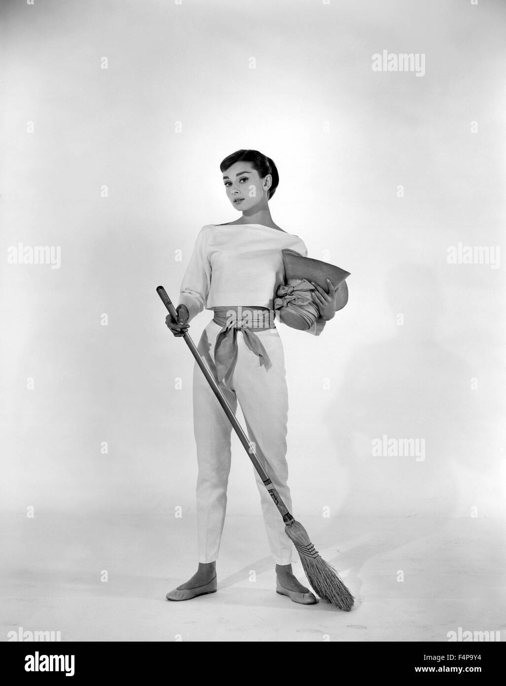 Audrey Hepburn / Funny Face 1957 directed by Stanley Donen - Stock Image