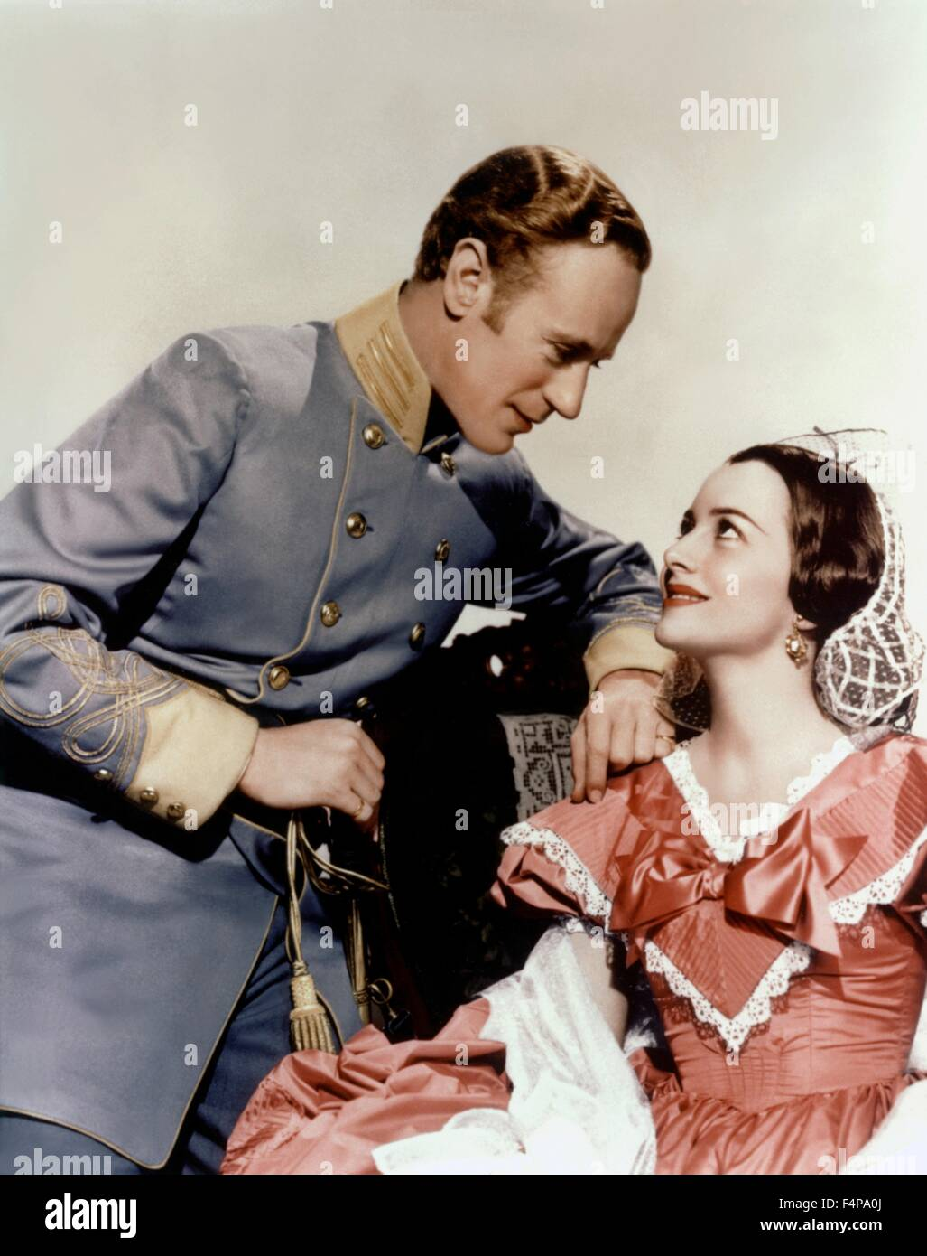 Leslie Howard, Olivia De Havilland / Gone with the Wind 1939 directed by Victor Fleming - Stock Image