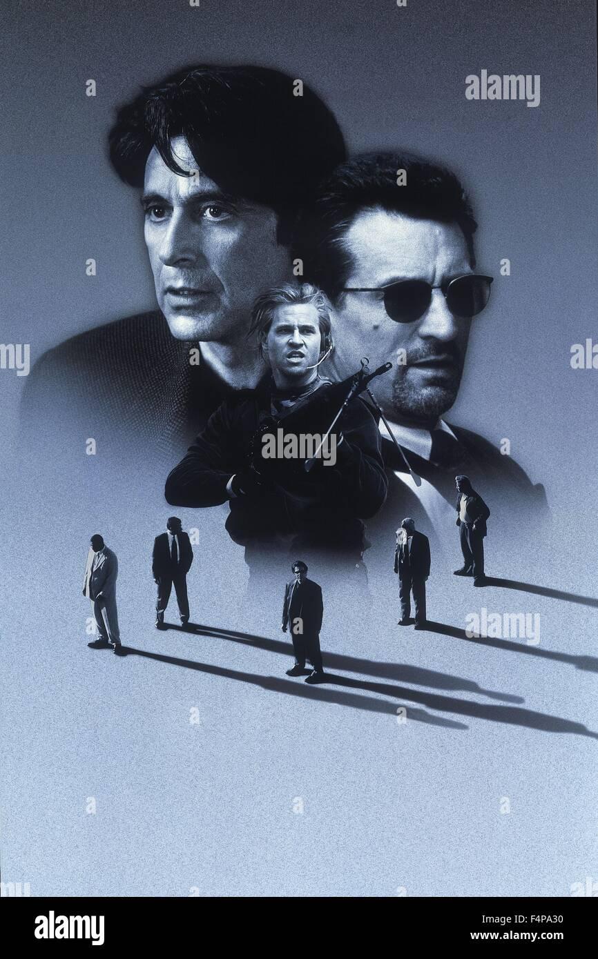 Al Pacino, Robert De Niro, Val Kilmer / Heat 1995 directed by Michael Mann - Stock Image