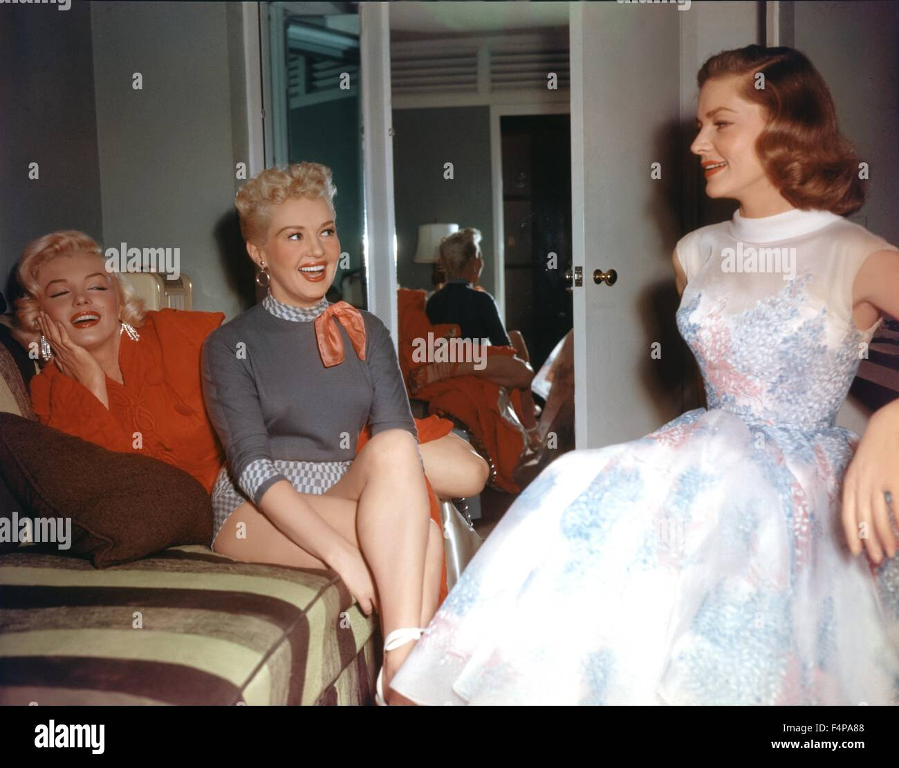 Lauren Bacall, Marilyn Monroe, Betty Grable / How to Marry a Millionaire 1953 directed by Jean Negulesco - Stock Image