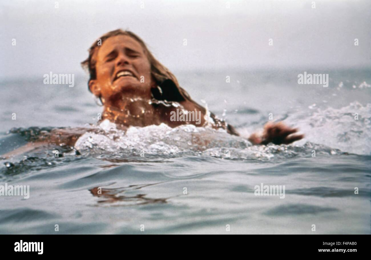 Jaws 1975 directed by Steven Spielberg - Stock Image