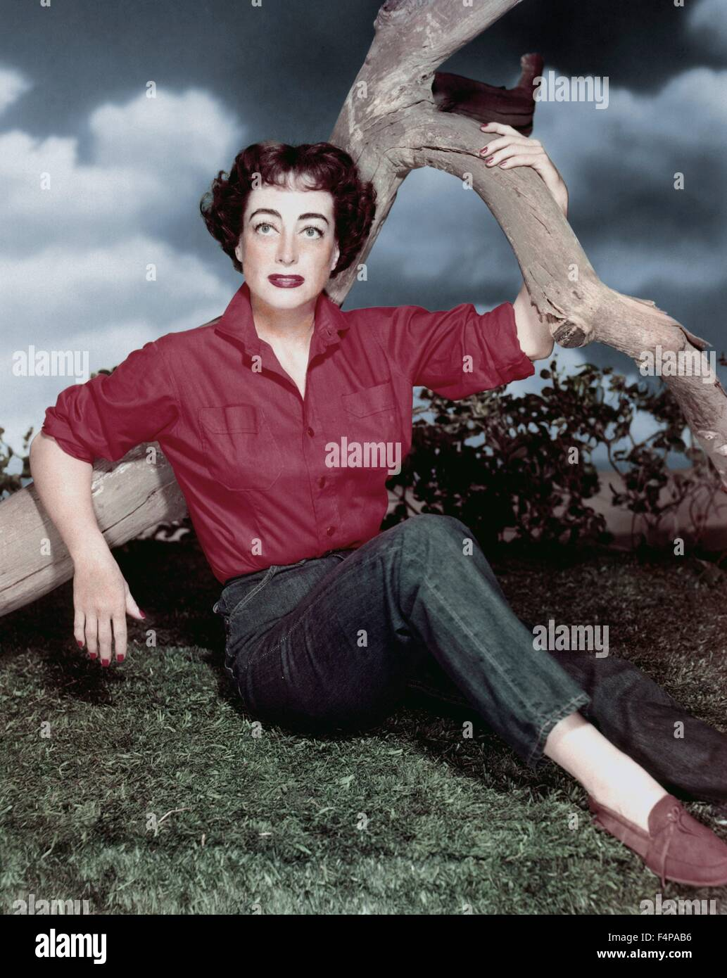 Joan Crawford / Johnny Guitar 1954 directed by Nicholas Ray - Stock Image