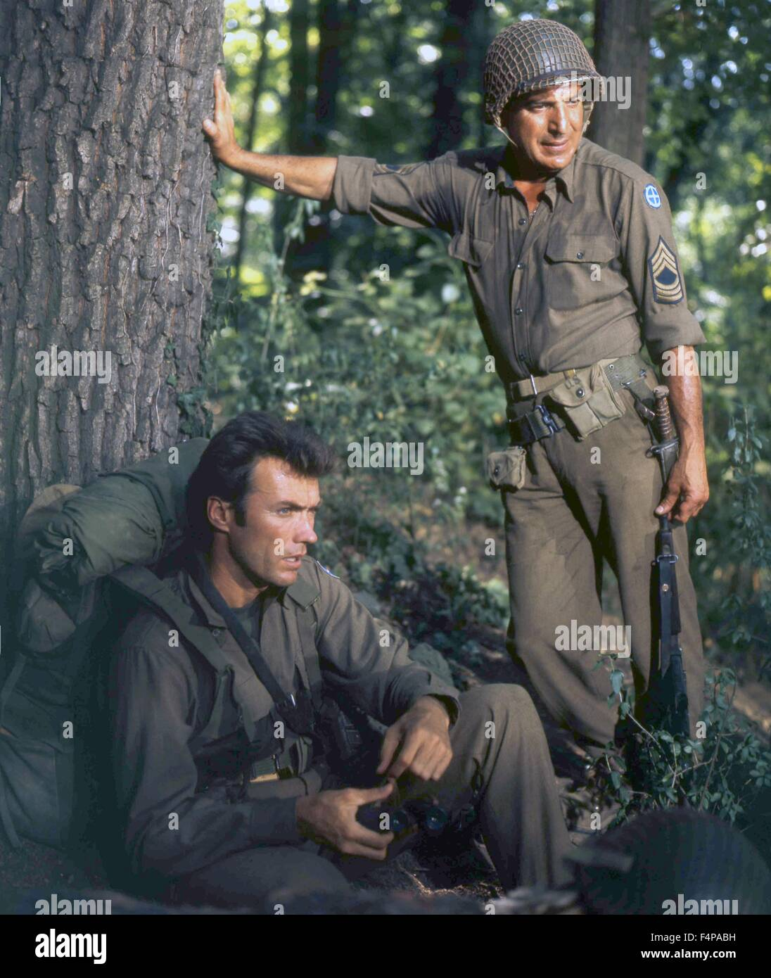 Clint Eastwood, Telly Savalas / Kelly's Heroes 1970 directed by Brian G. Hutton - Stock Image