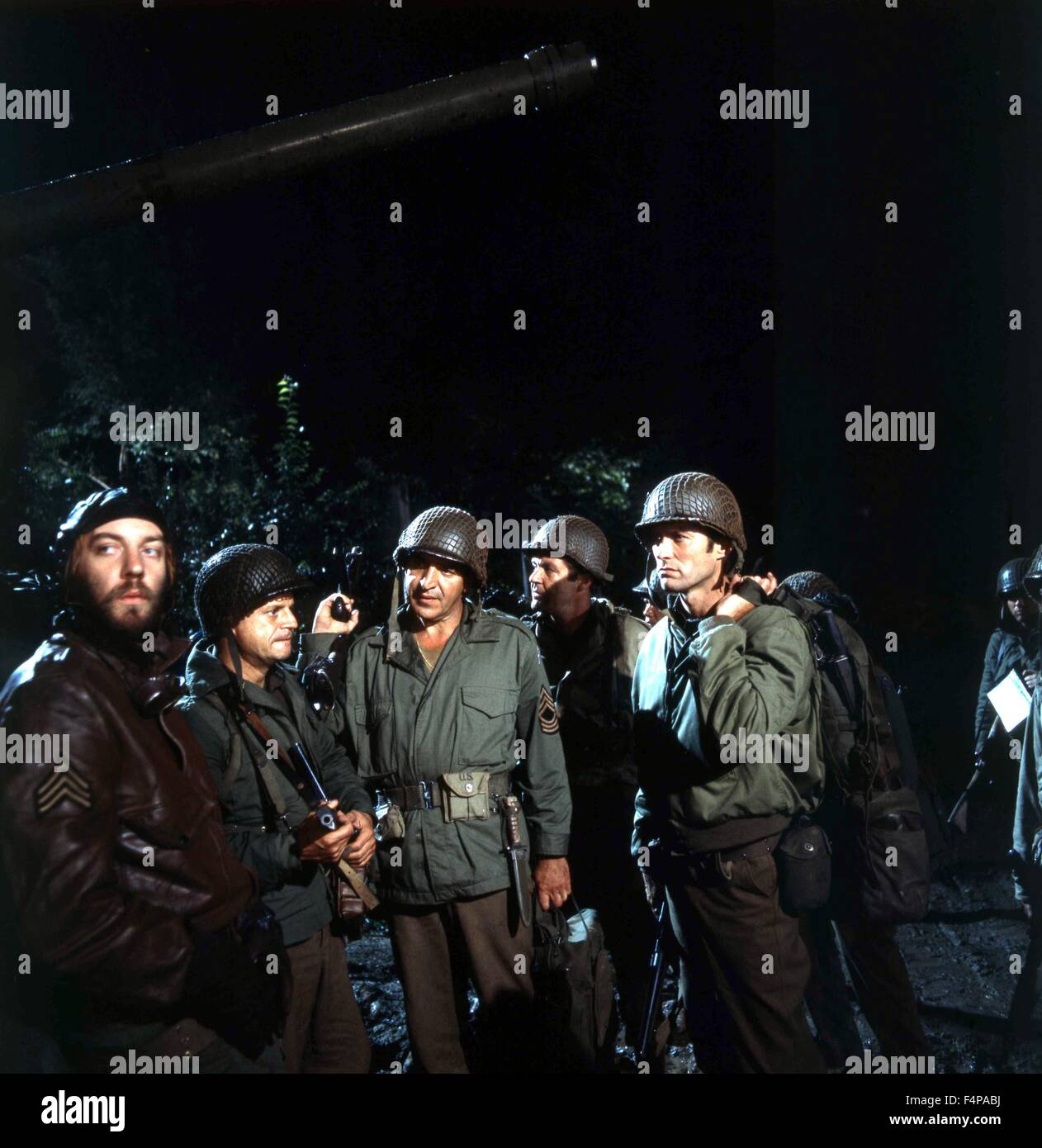 Donald Sutherland, Clint Eastwood, Telly Savalas / Kelly's Heroes 1970 directed by Brian G. Hutton - Stock Image