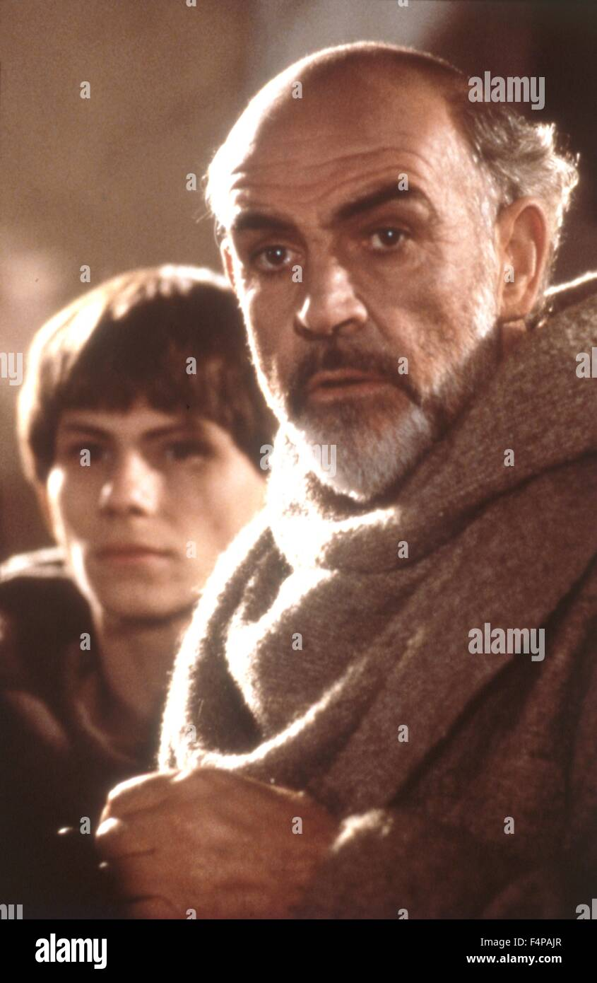 Christian Slater, Sean Connery / Der Name der Rose 1986 directed by Jean-Jacques Annaud - Stock Image