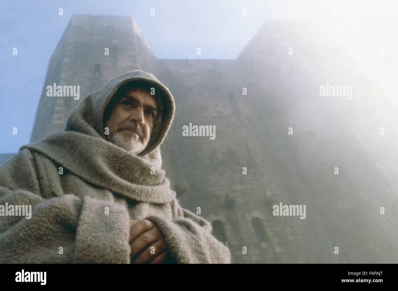 Sean Connery / Der Name der Rose 1986 directed by Jean-Jacques Annaud - Stock Image