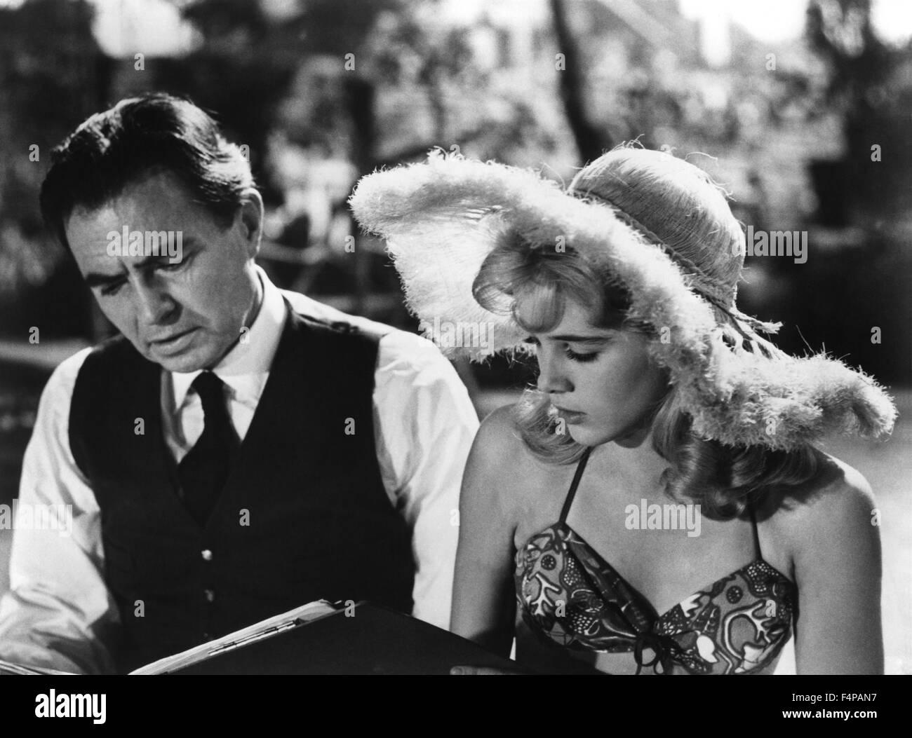 Sue lyon, James Mason / Lolita 1962 directed by Stanley Kubrick - Stock Image