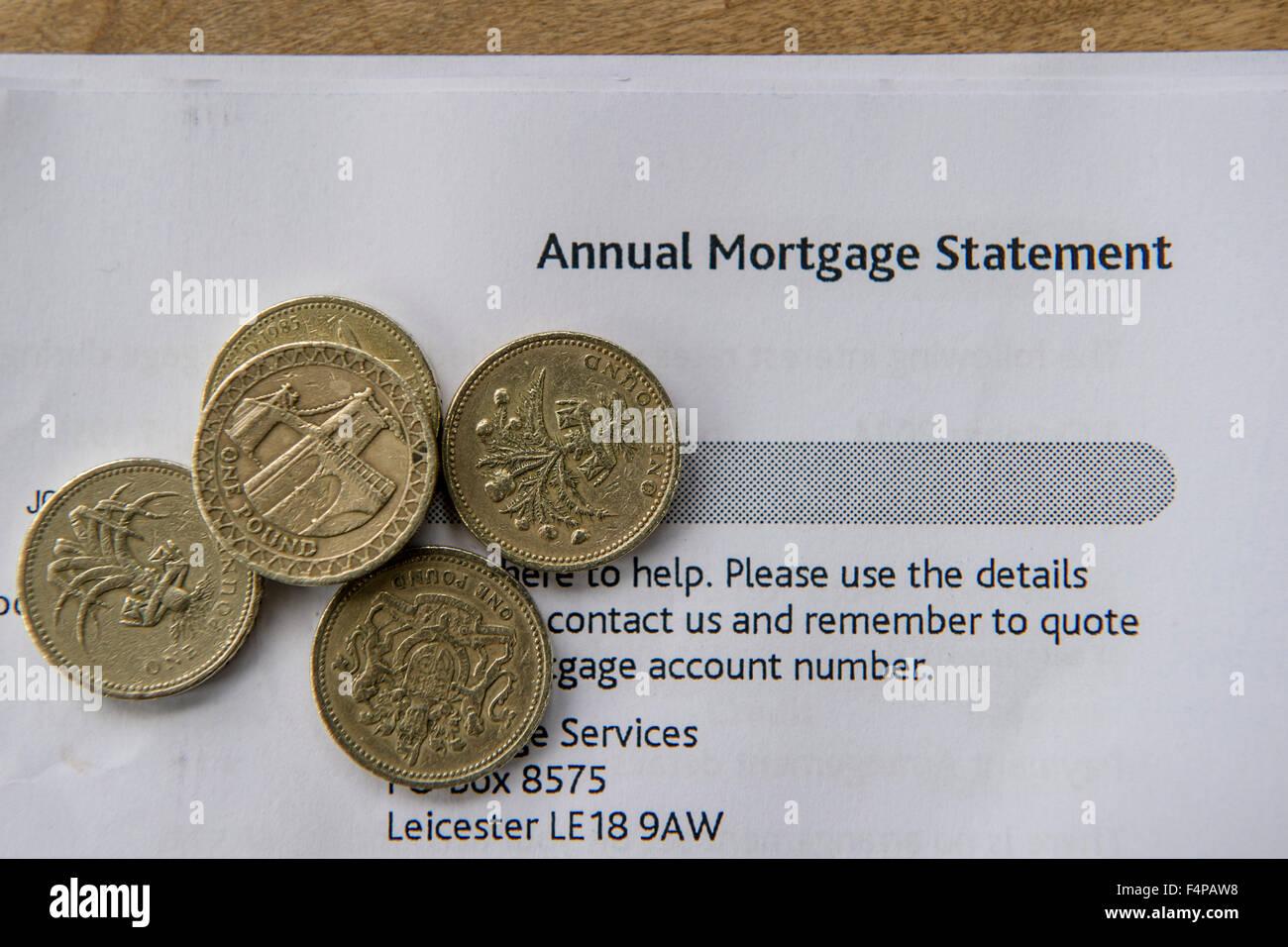 Mortgage statement - Stock Image