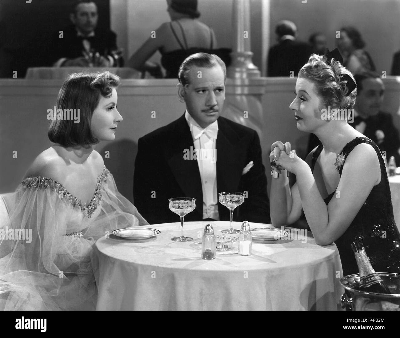 Greta Garbo, Melvyn Douglas, Ina Claire / Ninotchka 1939 directed by Ernst Lubitsch - Stock Image