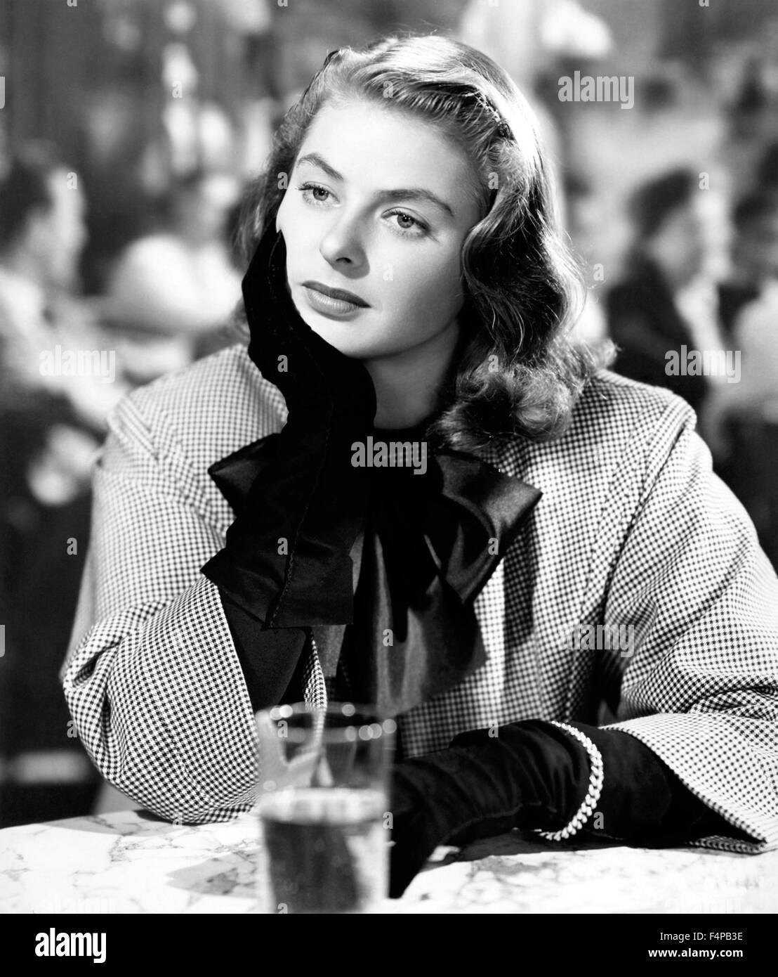 Ingrid Bergman / Notorious 1946 directed by Alfred Hitchcock - Stock Image