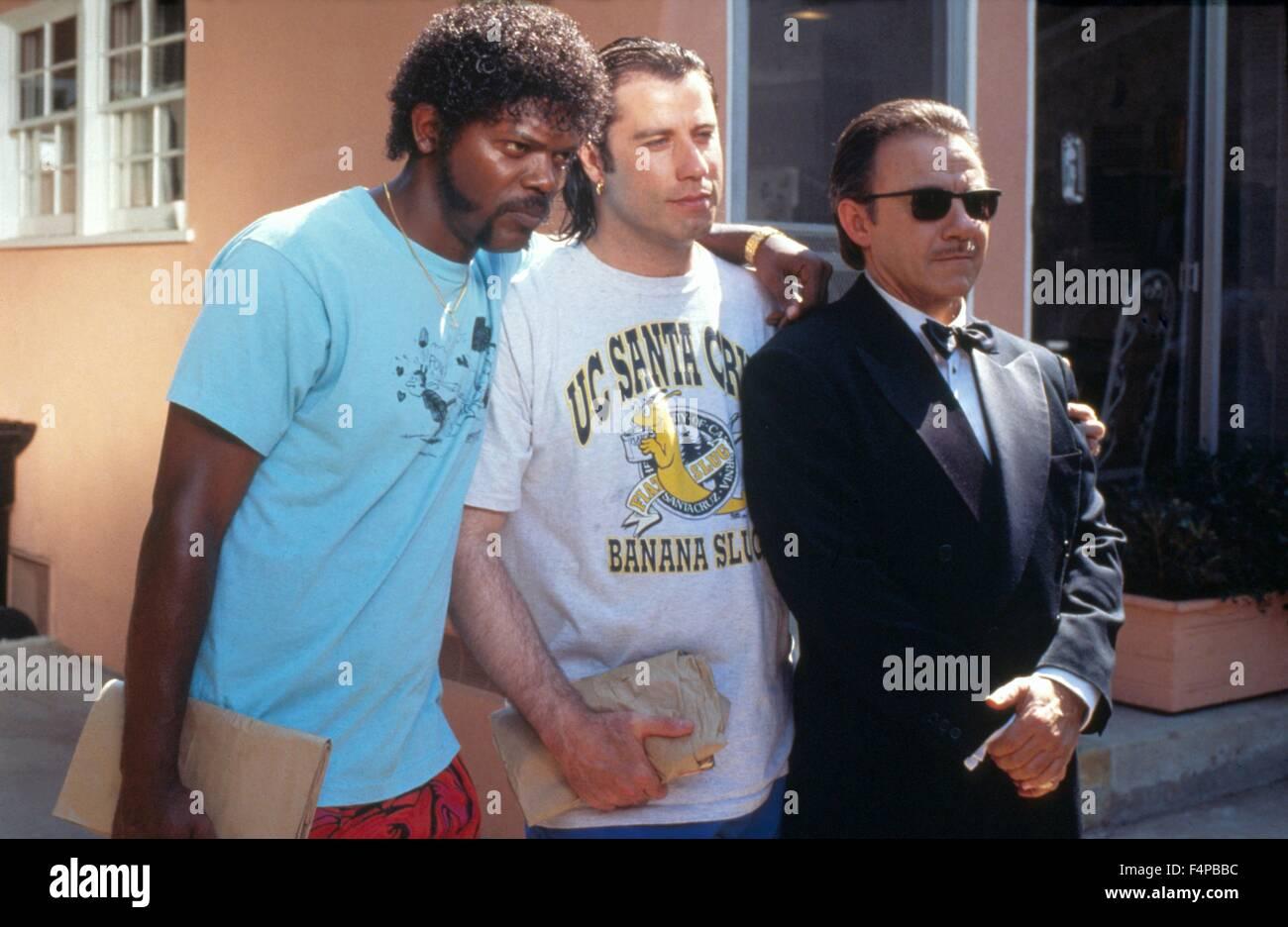 Samuel L. Jackson, John Travolta, Harvey Keitel / Pulp Fiction 1994 directed by Quentin Tarantino - Stock Image