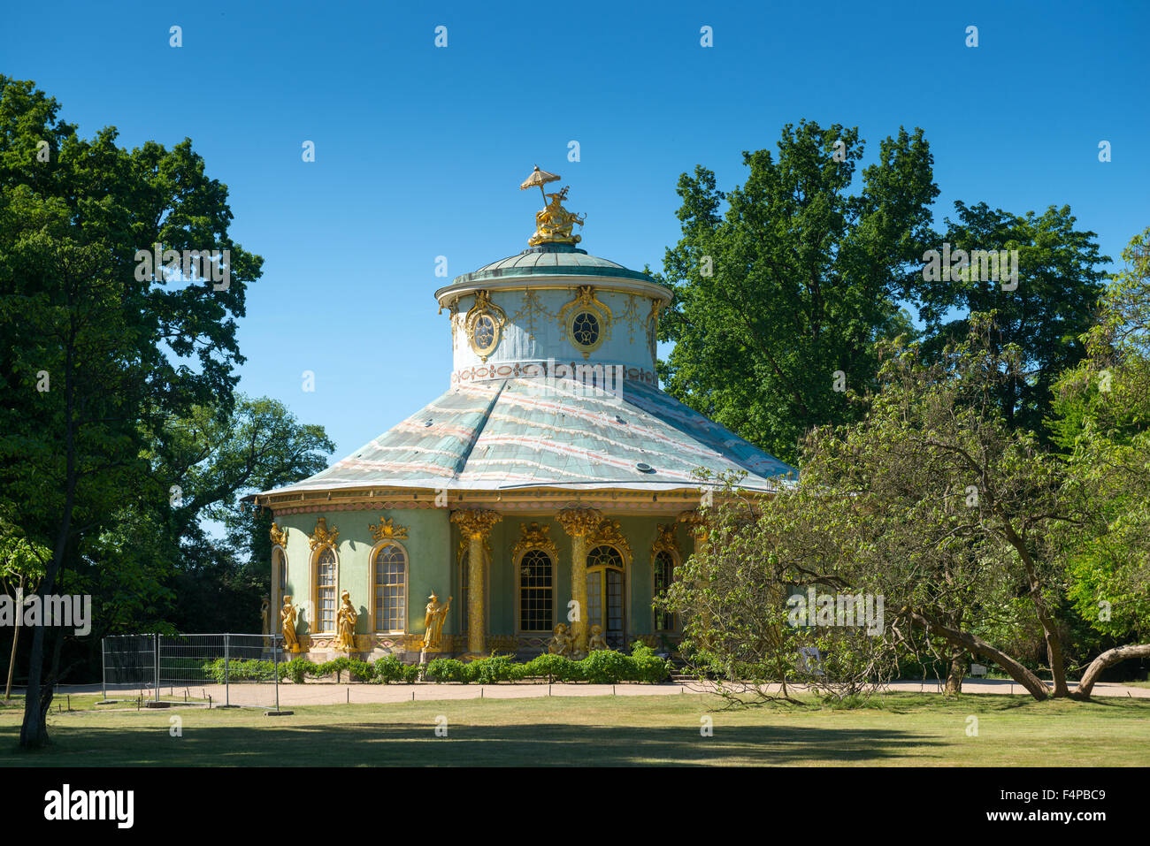 Chinese House in Sanssouci Park in Potsdam, Germany - Stock Image