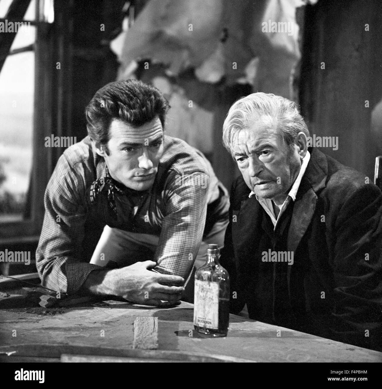 Clint Eastwood, Claude Rains / Rawhide T.V. 1959 - Stock Image