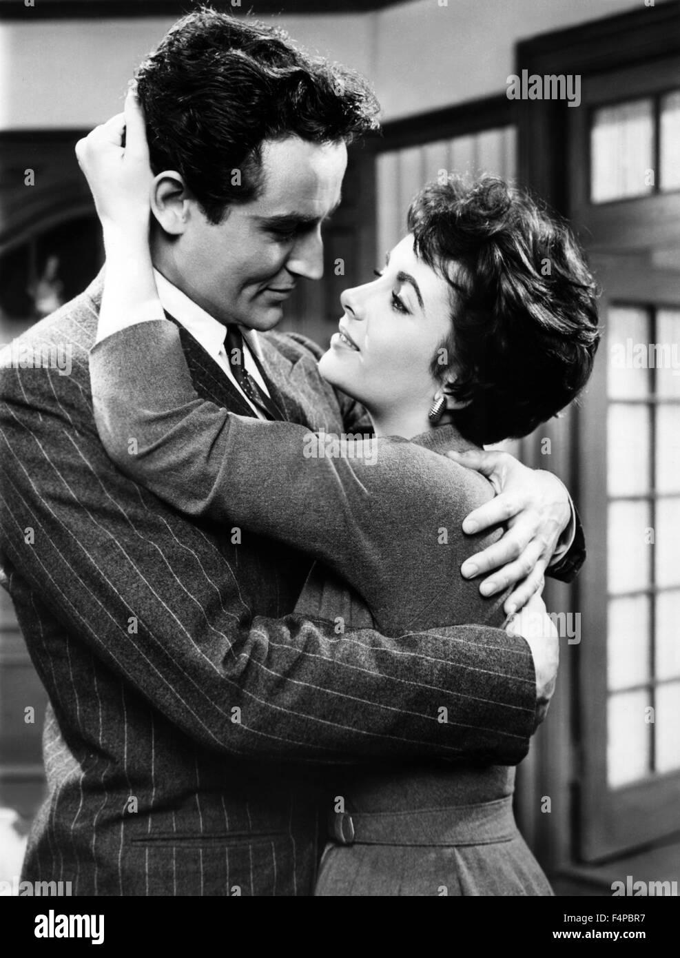 Vittorio Gassman, Elizabeth Taylor / Rhapsody 1954 directed by Charles Vidor - Stock Image