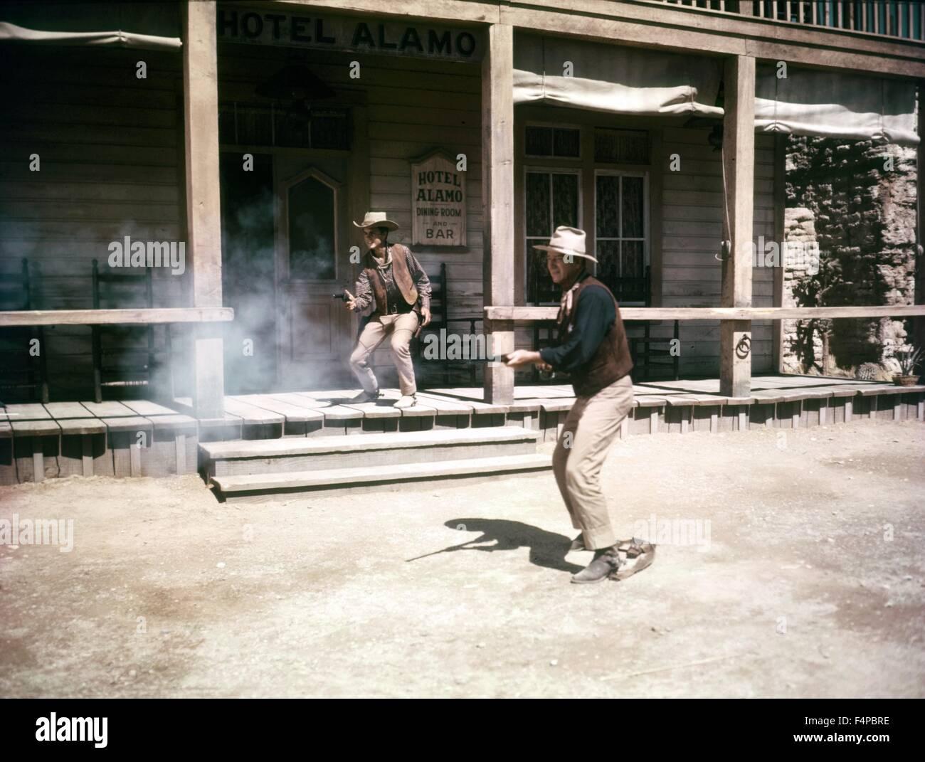 Ricky Nelson, John Wayne / Rio Bravo 1959 directed by Howard Hawks - Stock Image