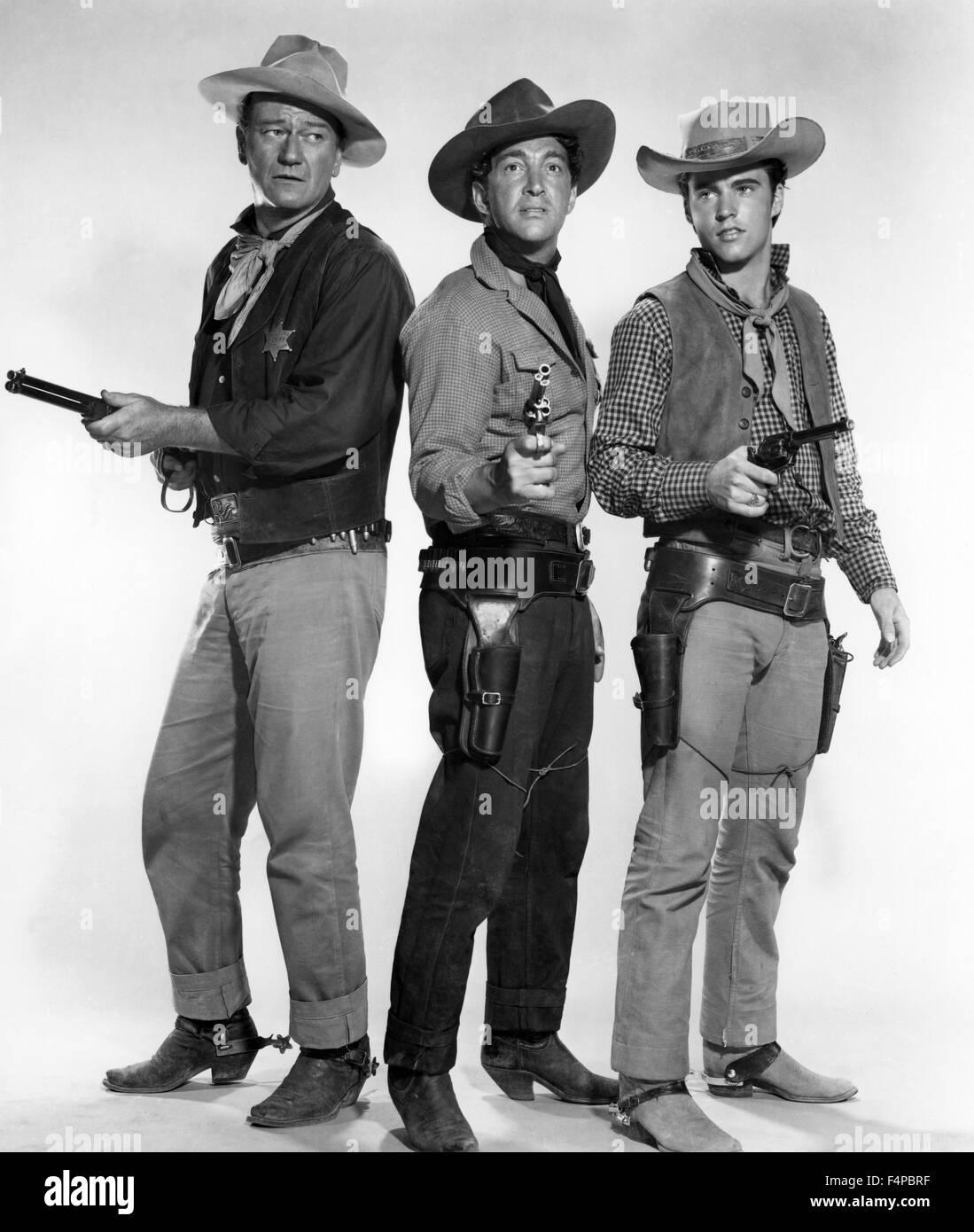 John Wayne, Dean Martin, Ricky Nelson / Rio Bravo 1959 directed by Howard Hawks - Stock Image