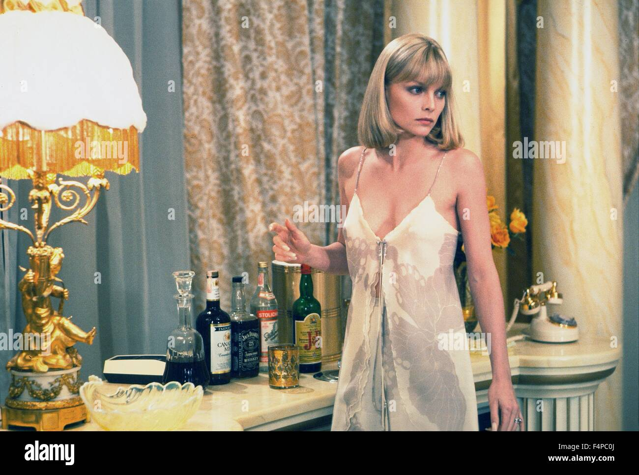 Michelle Pfeiffer / Scarface 1983 directed by Brian De Palma - Stock Image