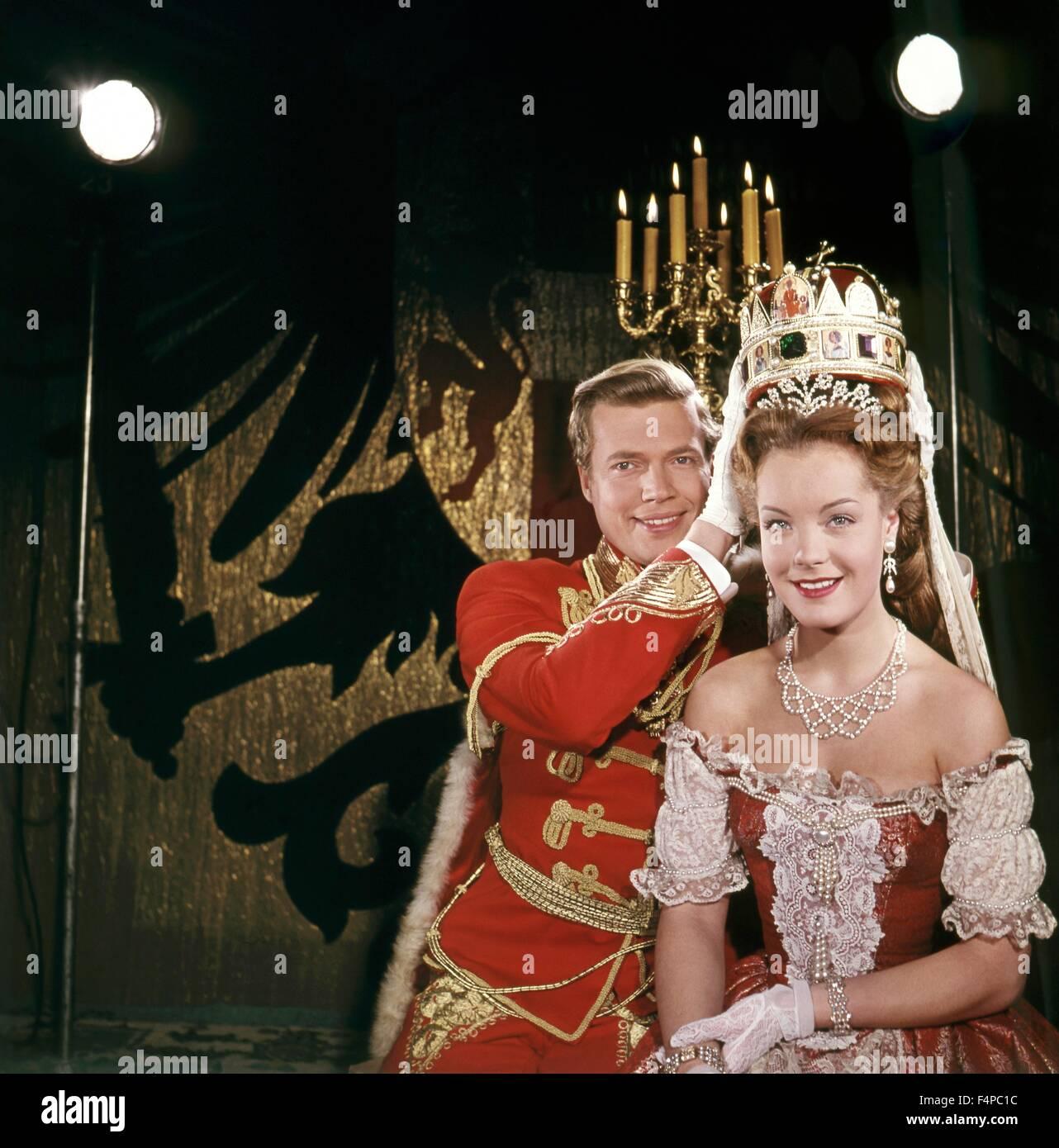Karl-Heinz Böhm, Romy Schneider / Sissi 1955 directed by Ernst Marischka - Stock Image