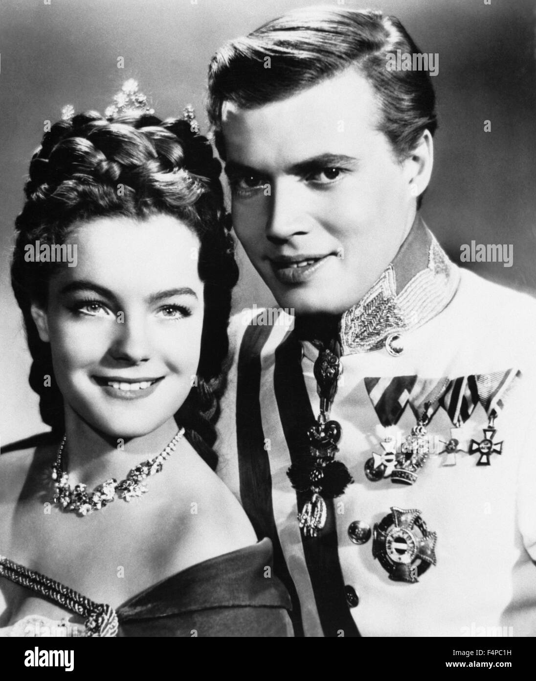 Romy Schneider, Karl-Heinz Böhm / Sissi 1955 directed by Ernst Marischka - Stock Image