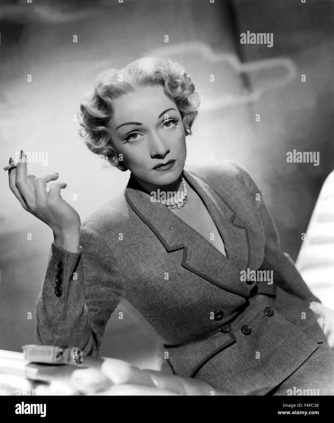 Marlene Dietrich / Stage Fright 1950 directed by Alfred Hitchcock - Stock Image