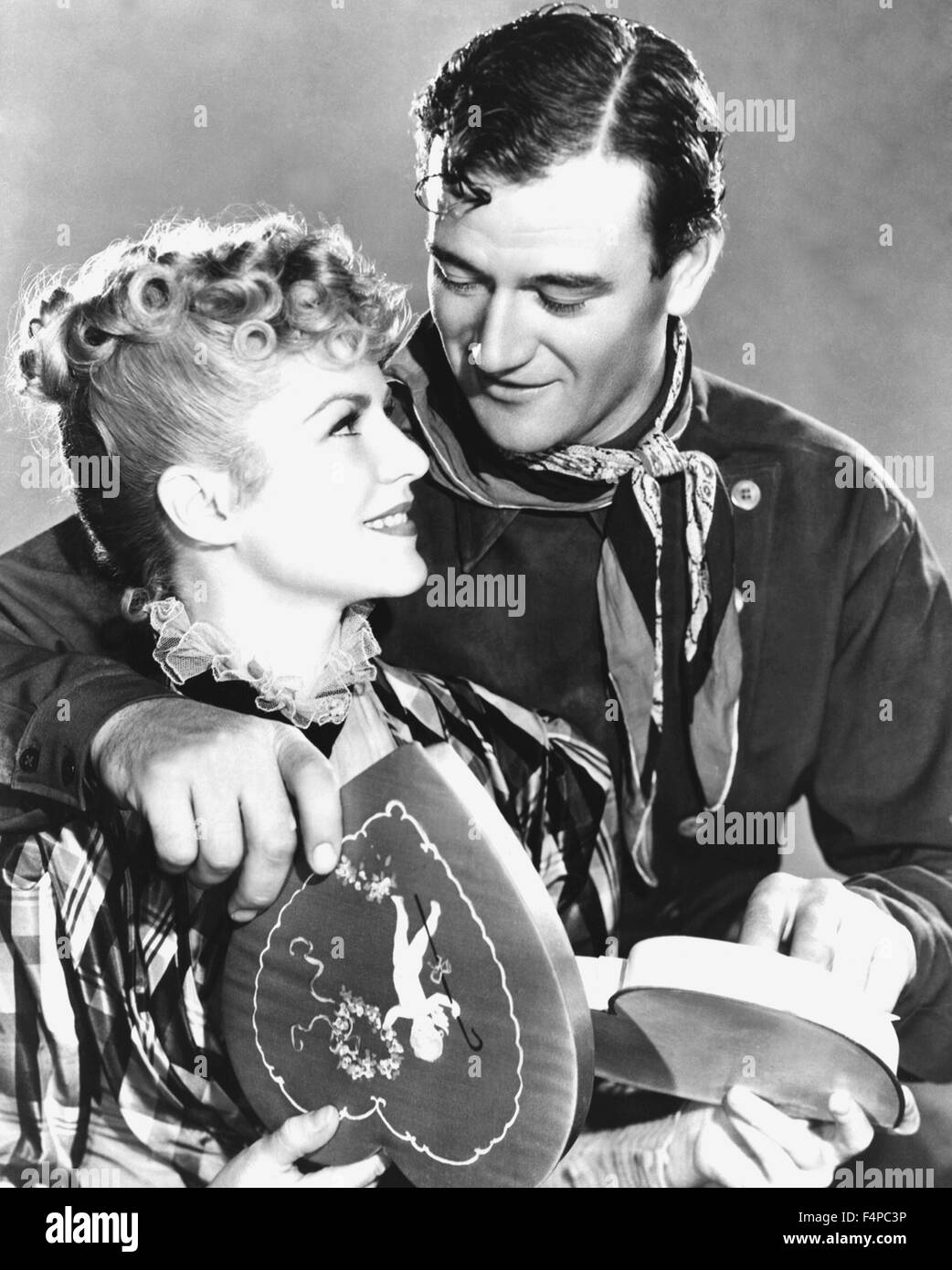 John Wayne, Claire Trevor / Stagecoach 1939 directed by John Ford - Stock Image