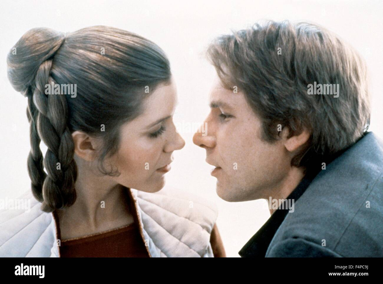 Carrie Fisher, Harrison Ford / Star Wars - The Empire Strikes Back 1980 directed by Irvin Kershner - Stock Image