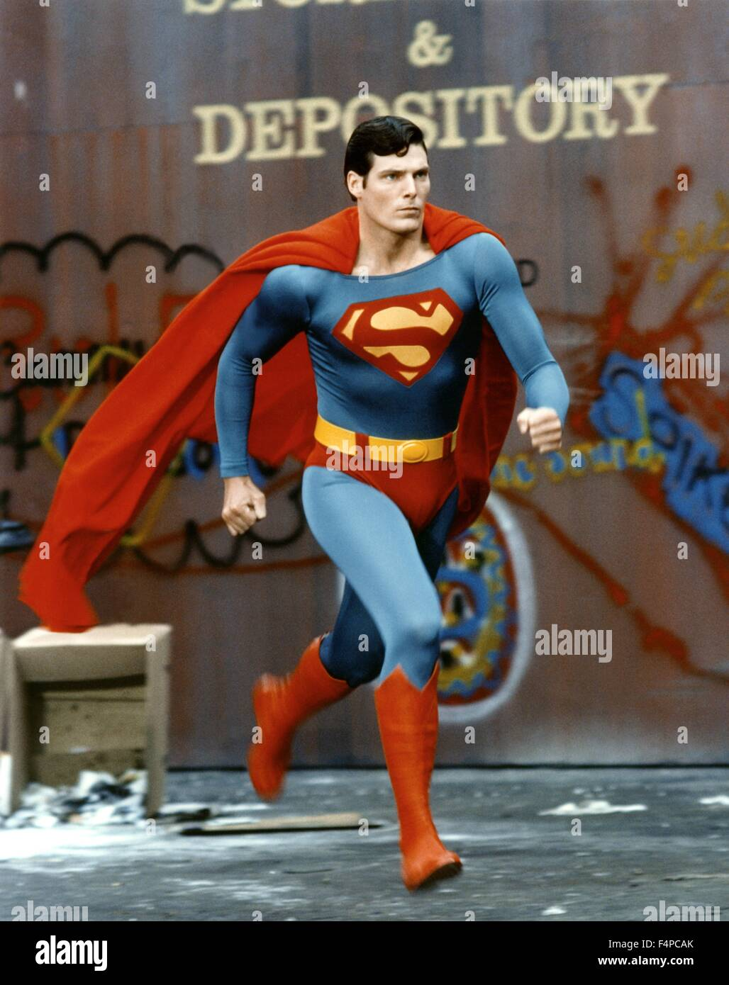 Christopher Reeve / Superman 1978 directed by Richard Donner - Stock Image