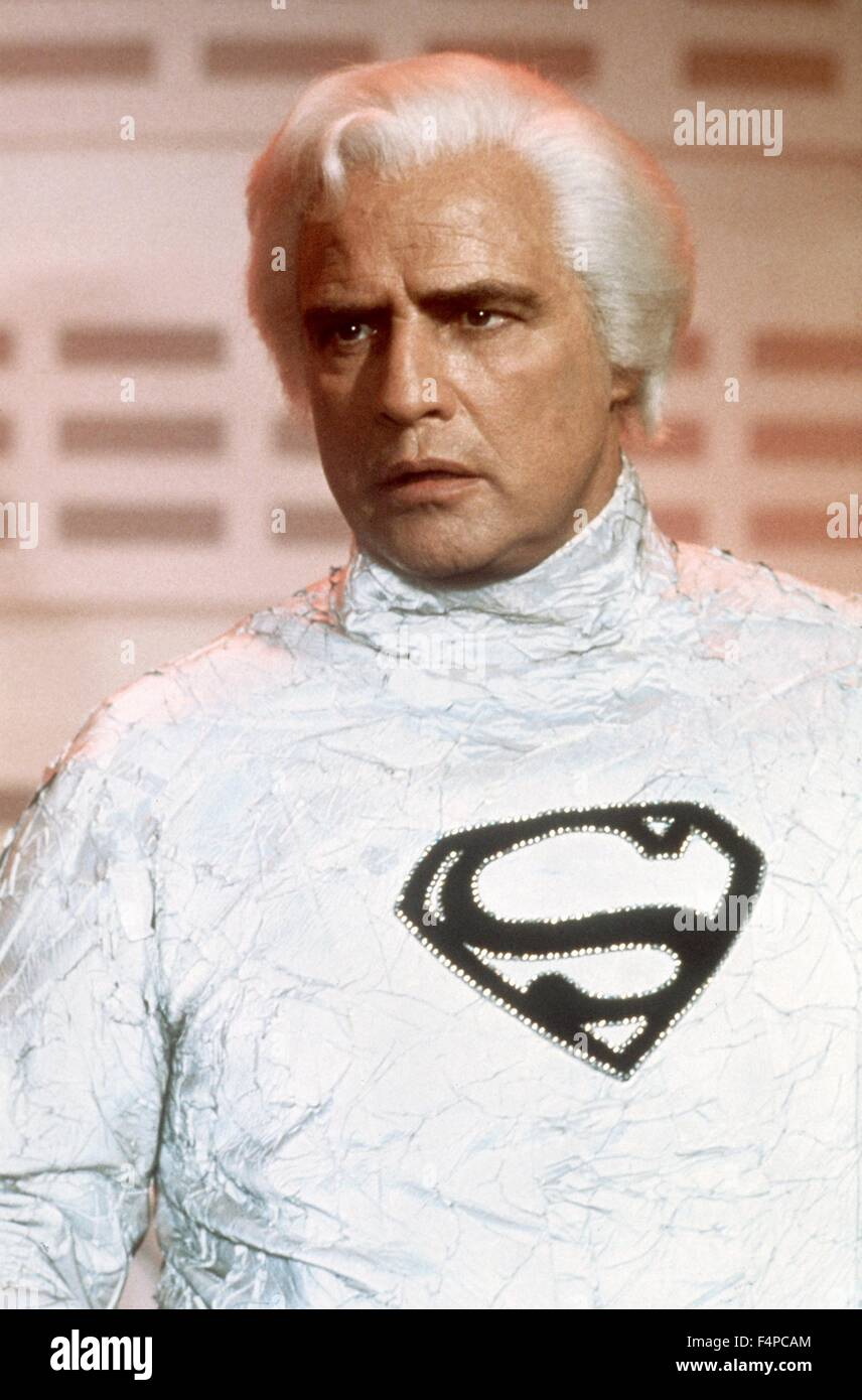 Marlon Brando / Superman 1978 directed by Richard Donner - Stock Image