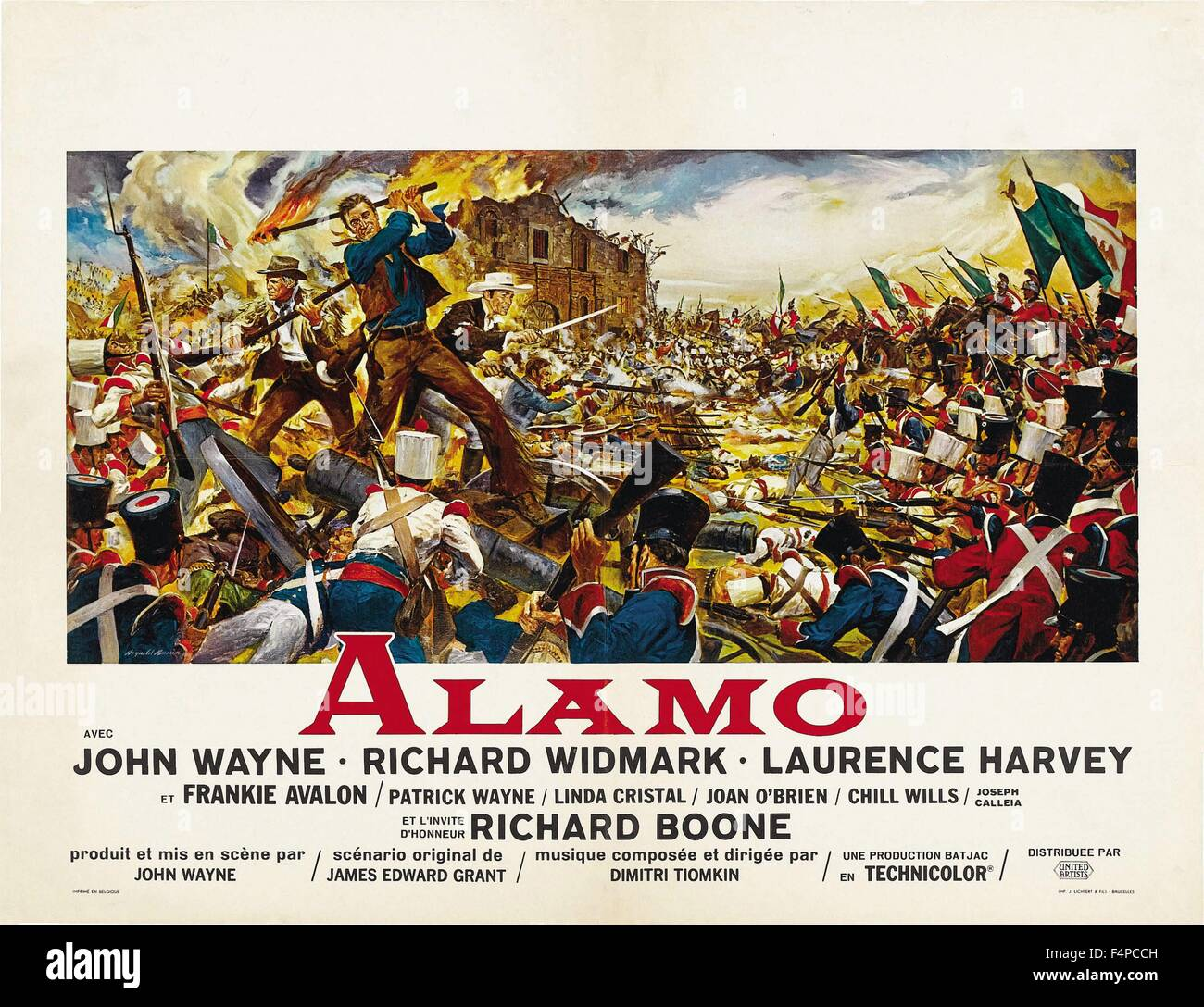 Banner of The Alamo 1960 directed by John Wayne - Stock Image