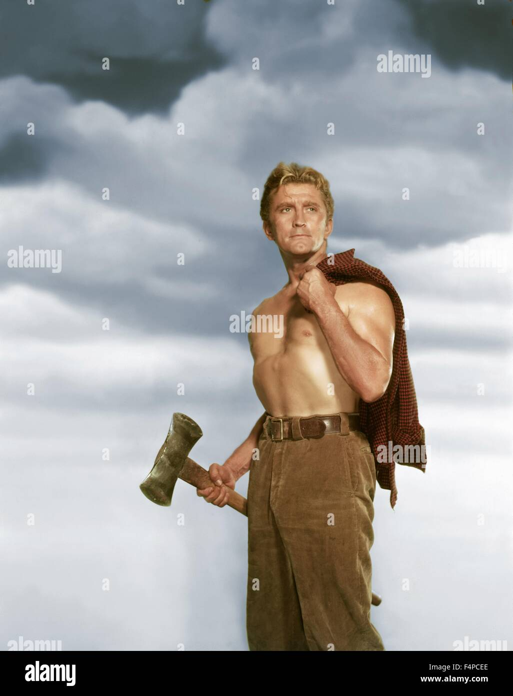 Kirk Douglas / The Big Trees 1952 directed by Felix Feist - Stock Image