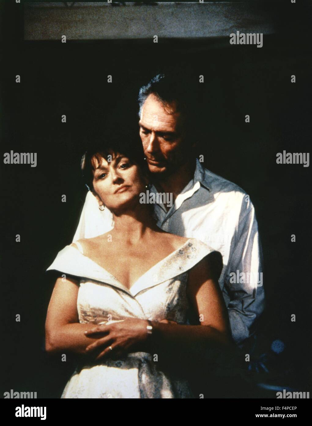 Meryl Streep, Clint Eastwood / The Bridges Of Madison County 1995 directed by Clint Eastwood - Stock Image