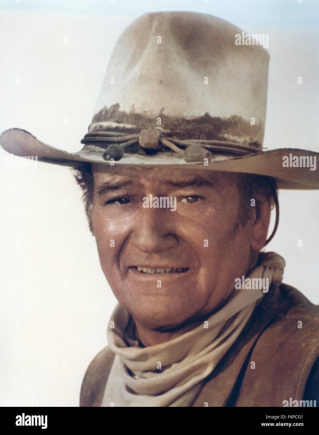 John Wayne / The Cowboys 1972 directed by Mark Rydell - Stock Image
