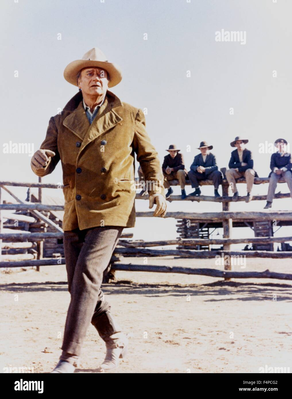 John Wayne / The Cowboys 1972 directed by Mark Rydell - Stock Image