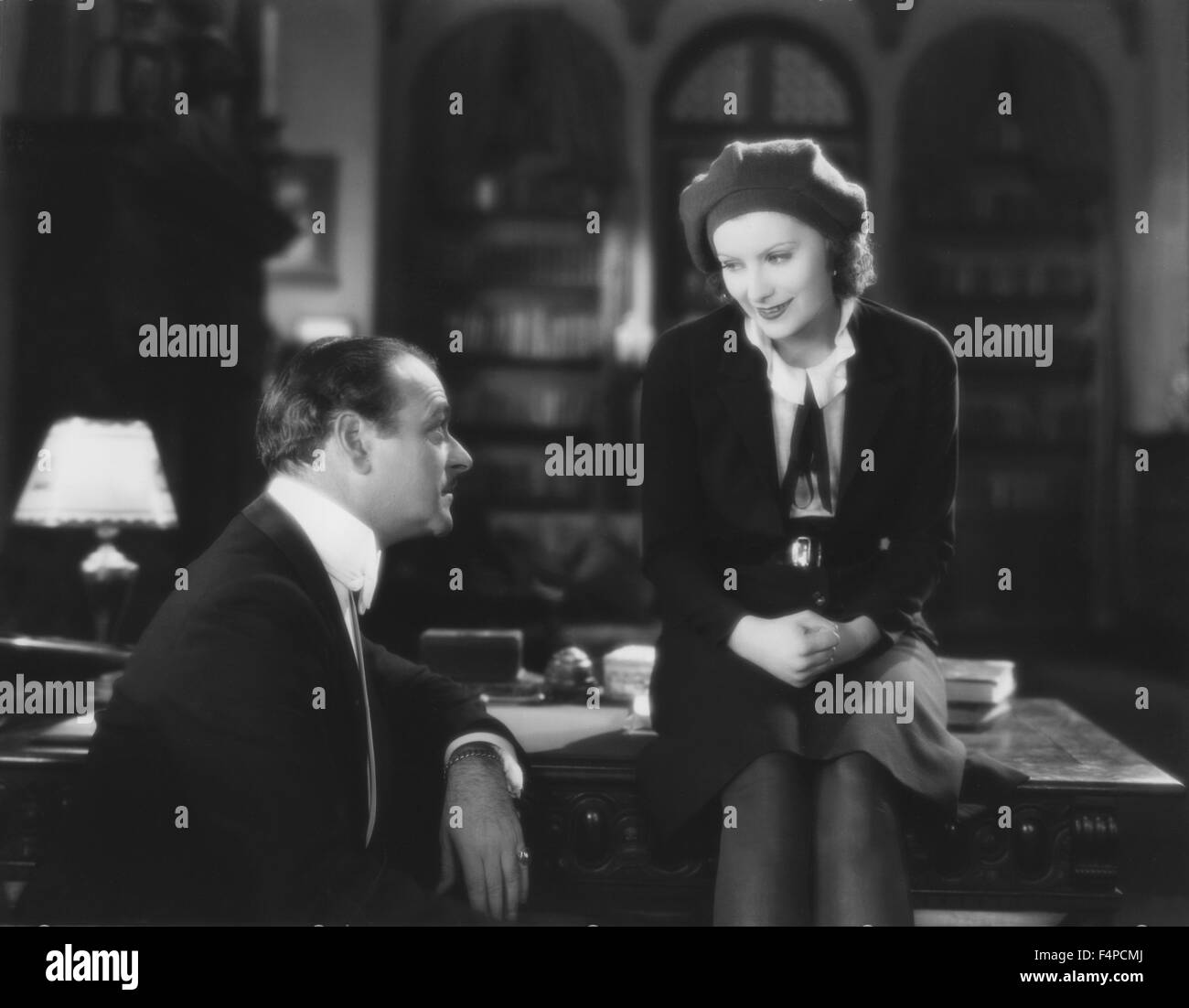 Lowell Sherman, Greta Garbo / The Divine Woman 1928 directed by Victor Sjostrom - Stock Image